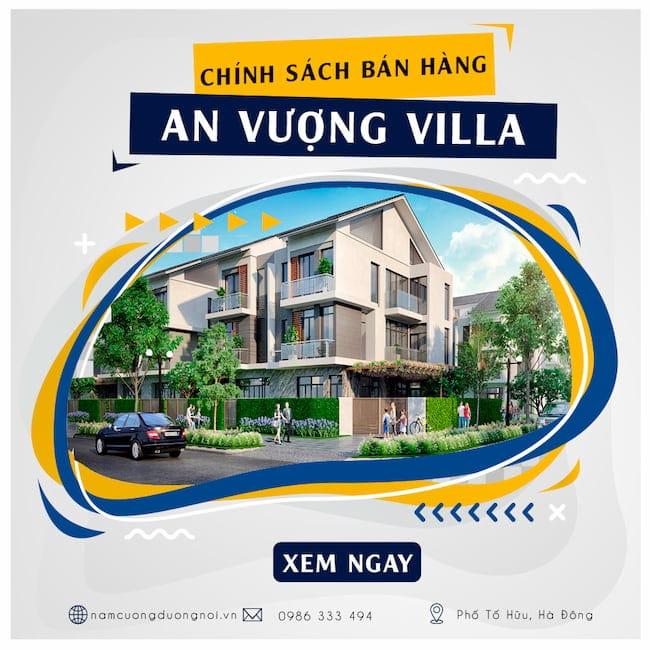 Chính sách bán hàng biệt thự An Vượng Villa